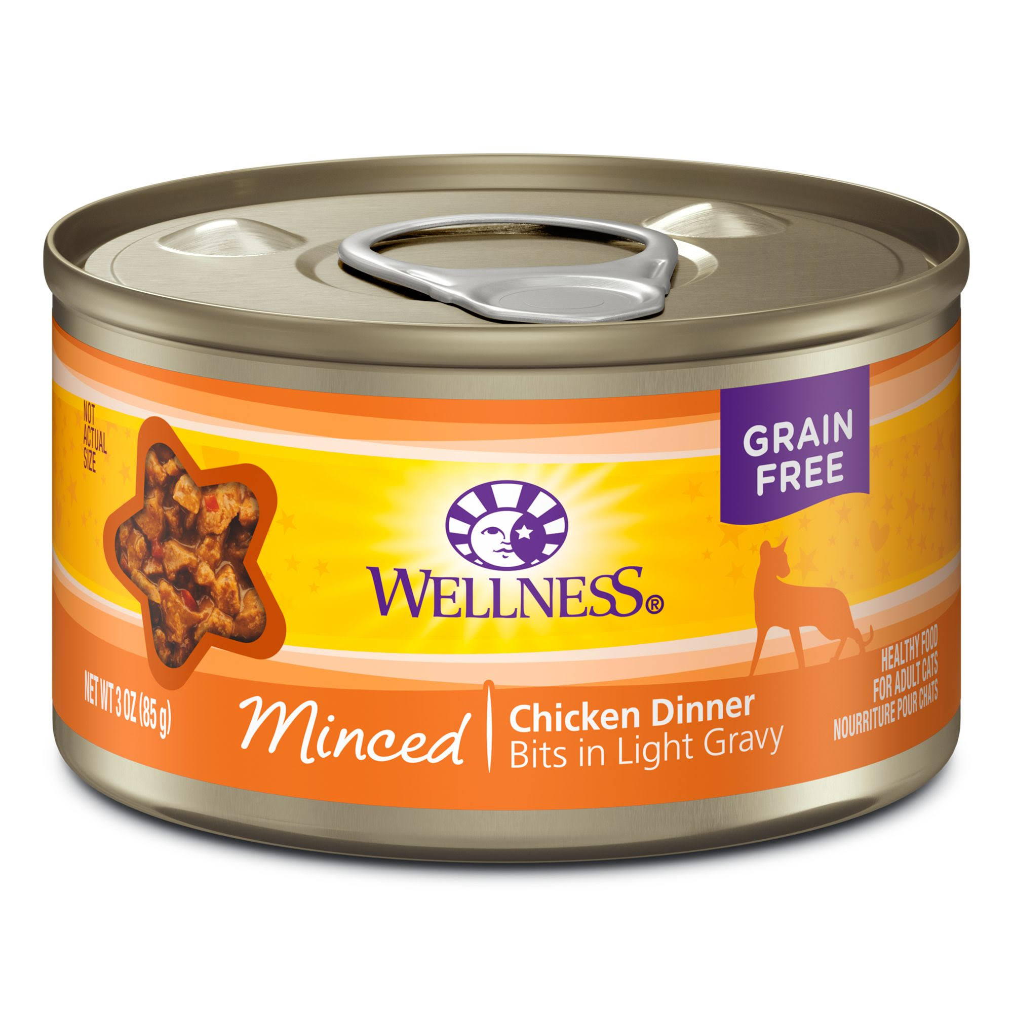 Wellness Grain Free Cat Food - Minced Chicken Dinner, 85g