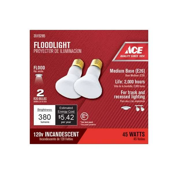 Ace Hardware Reflector Floodlight - 45W, 2 Pack