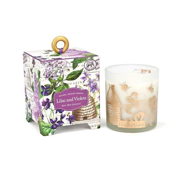Michel Design Works 6.5 oz Soy Wax Candle, Lilac & Violets