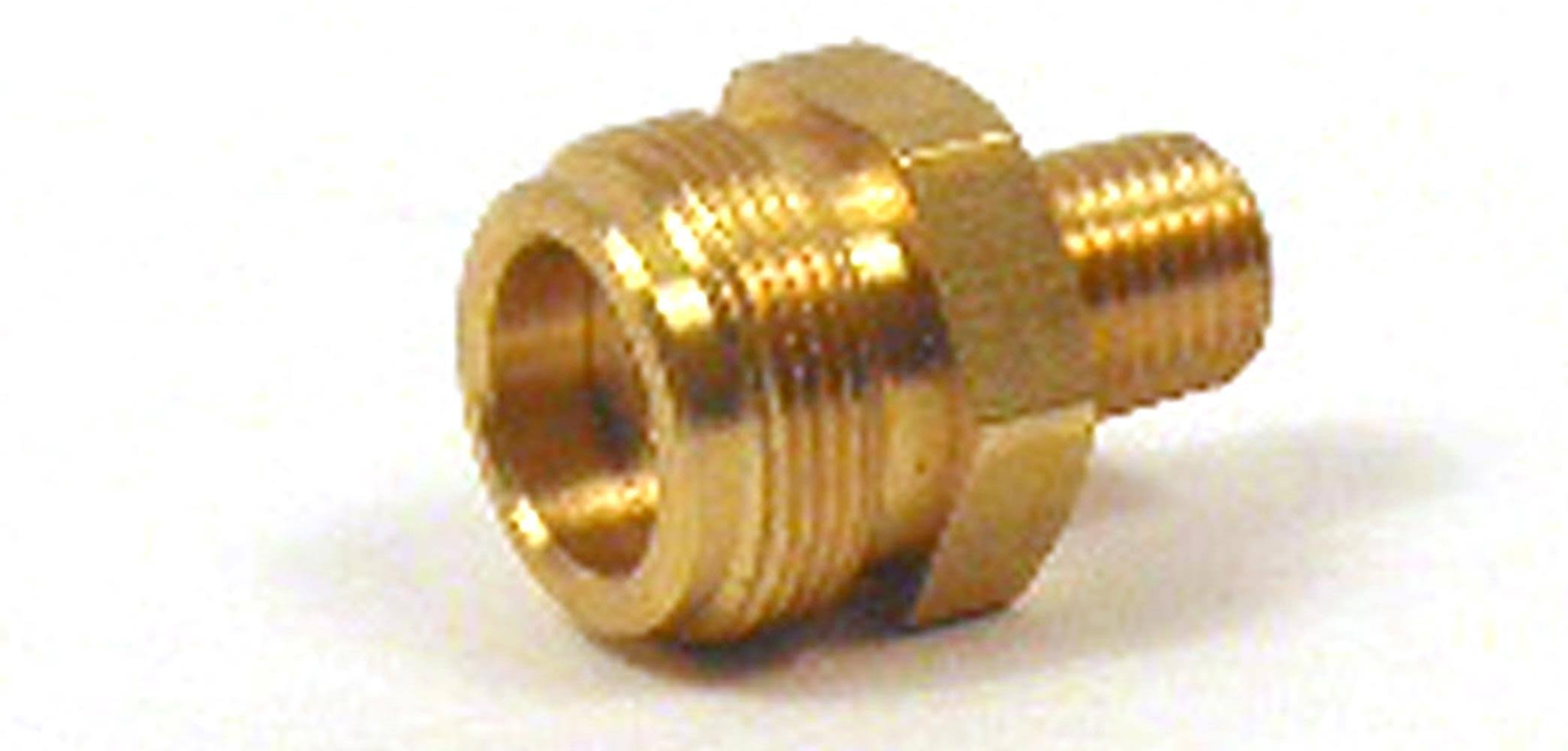 "Mr. Heater Throwaway Cylinder Thread Fitting - 1/4"" Male Pipe Thread x 1""-20"" Male"