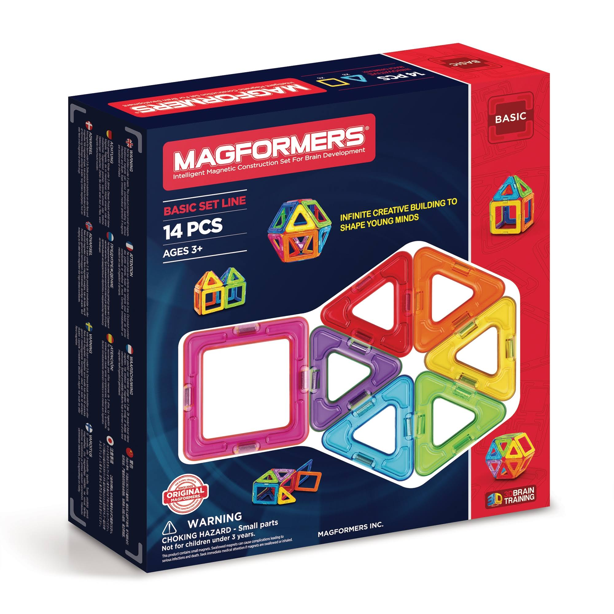 Magformers Rainbow Set - 14 Pieces