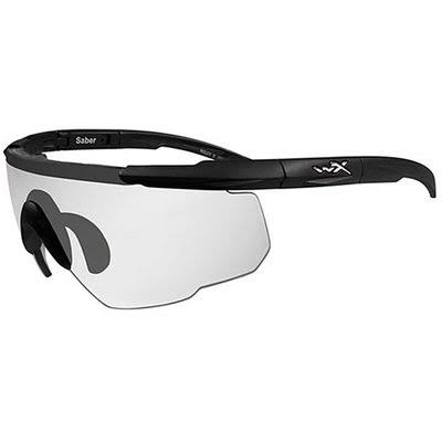 Wiley X Saber Advanced Eyeshields / Tactical Series Sunglasses - Matte Black Frame & Clear Lens