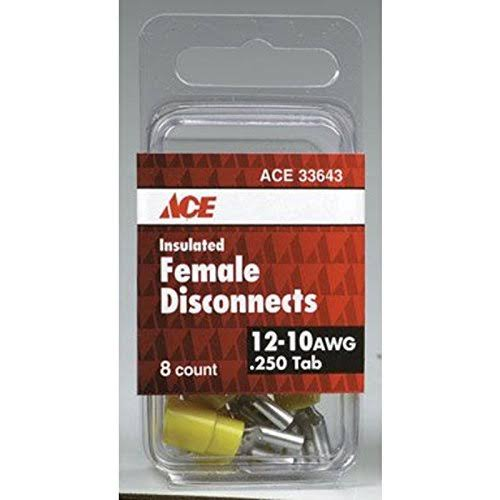 Ace Outlet Adapter Electrical Insulated Female Disconnect - 12-10 Awg