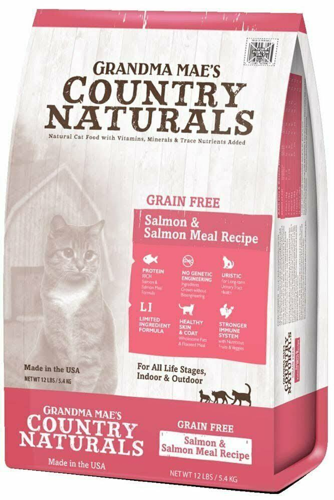 Country Naturals Grain-Free Salmon Meal Dry Cat Food - 12lbs