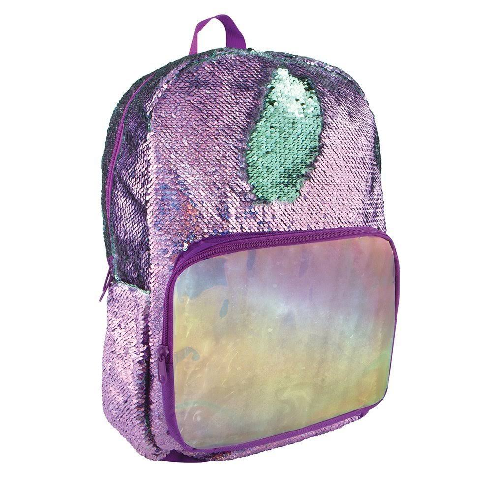 Fashion Angels Purple Holographic Seafoam Magic Sequin Backpack