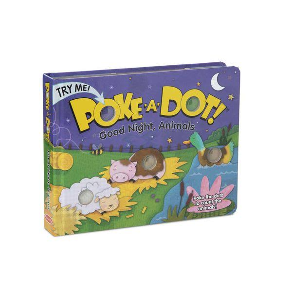 Melissa & Doug Poke-A-Dot: Goodnight, Animals Book