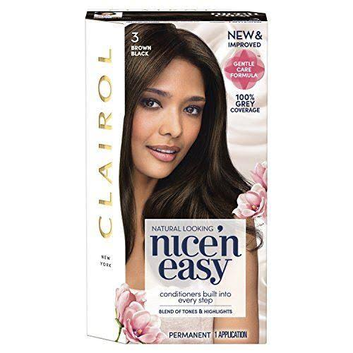 Nice'n Easy Permanent Hair Dye - 3 Brown Black