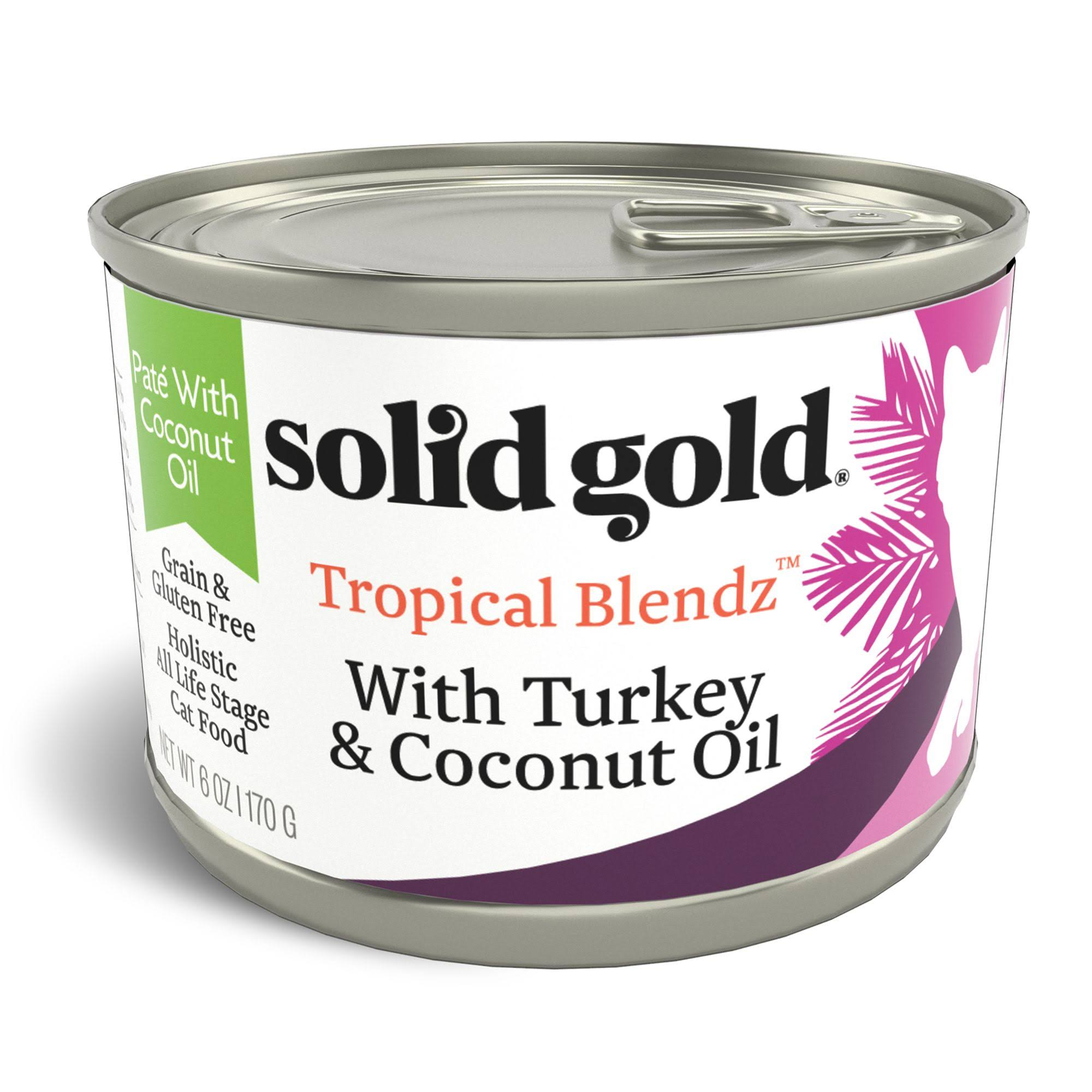 Solid Gold 6 oz Tropical Blendz Pate with Turkey & Coconut Oil Wet Cat Food
