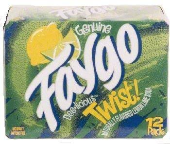 Faygo Twist Lemon and Lime Soda - 12 Pack