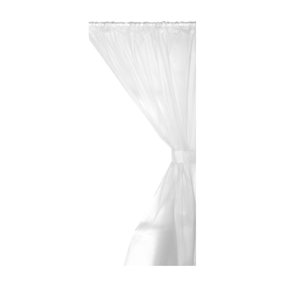 Carnation Home Fashions Vinyl Bathroom Window Curtain