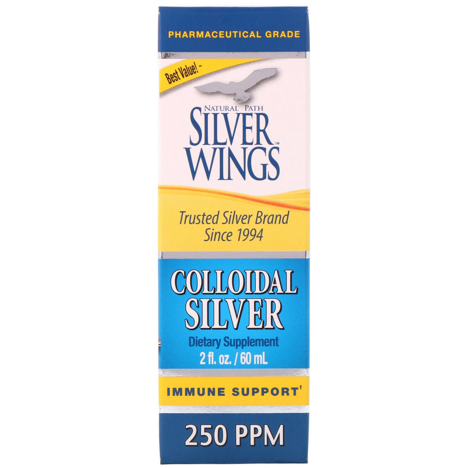 Natural Path Silver Wings Colloidal Silver - 250ppm, 500ml