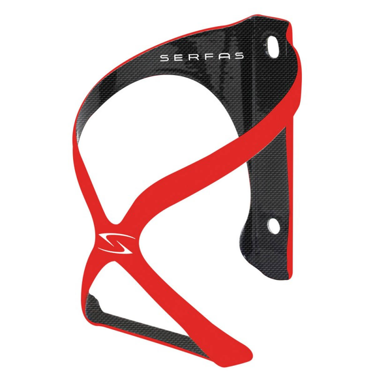 Serfas Spyre Carbon Water Bottle Cage - CC-800 (Red)