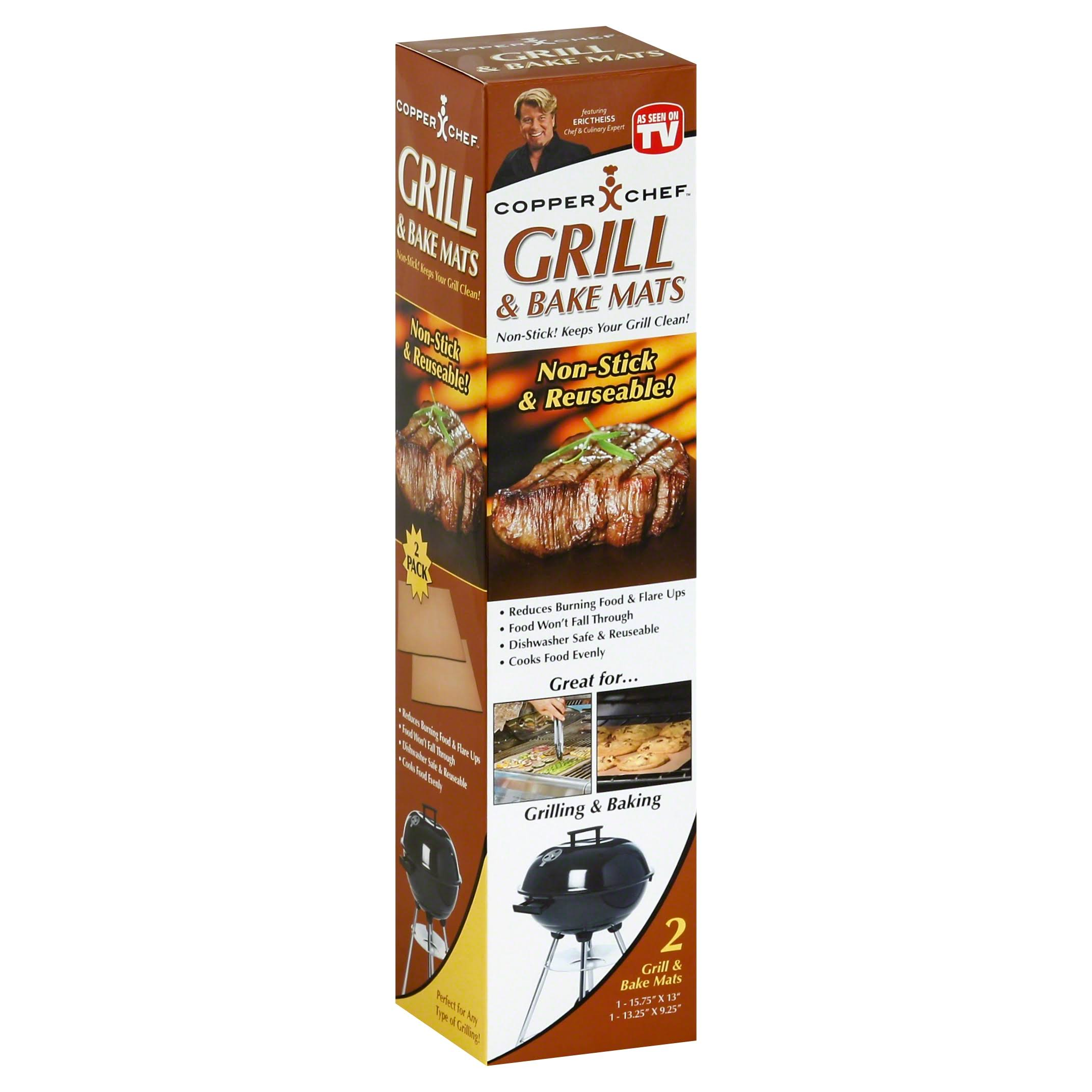 As Seen On TV Copper Chef Grill & Bake Mats - 2 pack