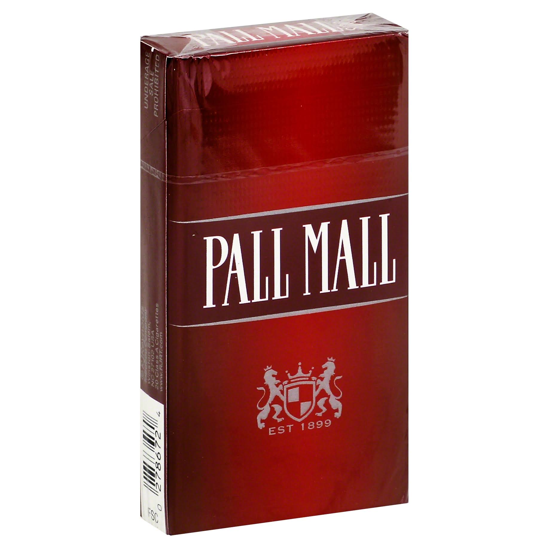 Pall Mall Cigarettes, 100's - 20 cigarettes