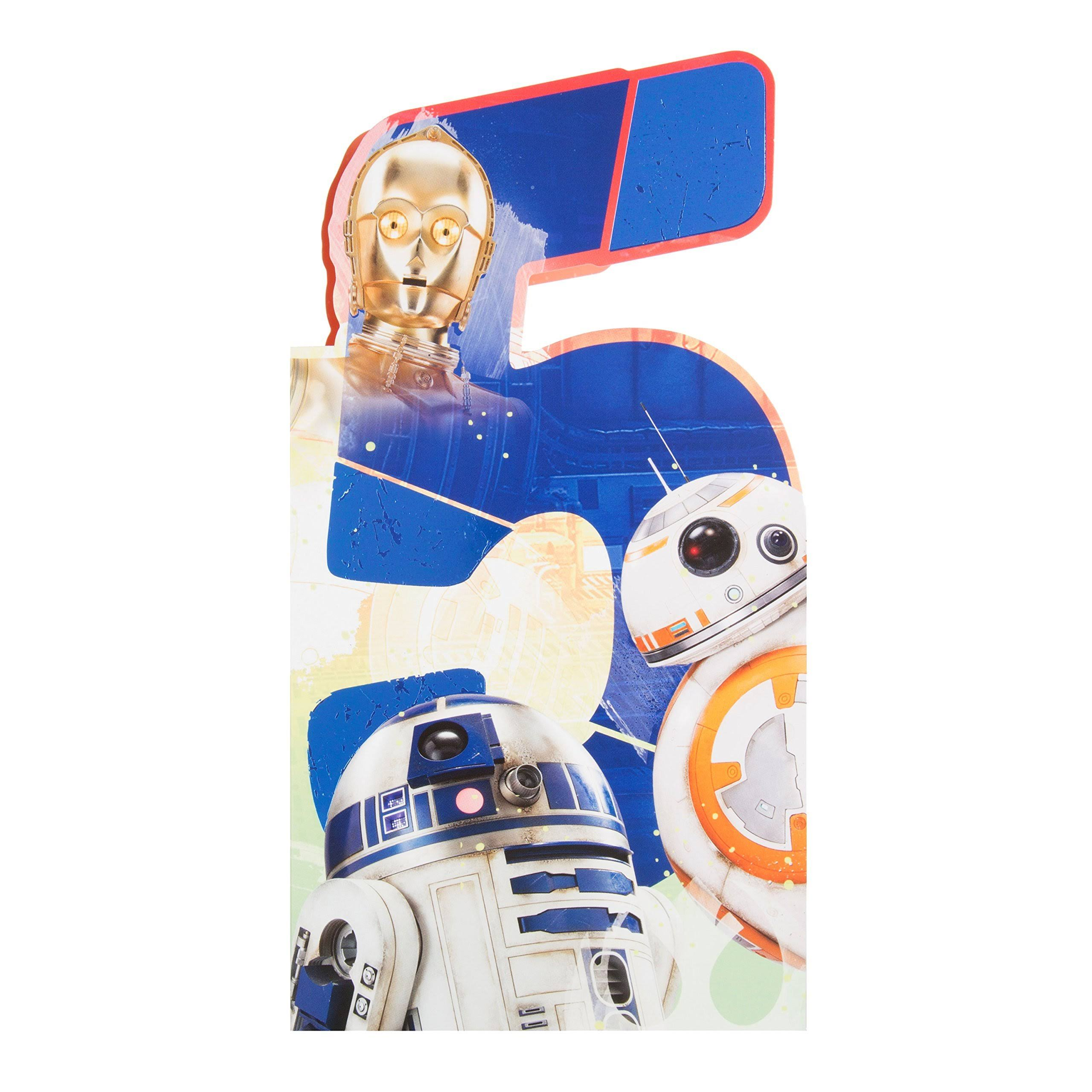 Star Wars Age 5 Shaped Birthday Card