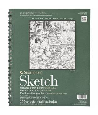 Strathmore 400 Series Recycled Sketch Pad - 100 Sheets