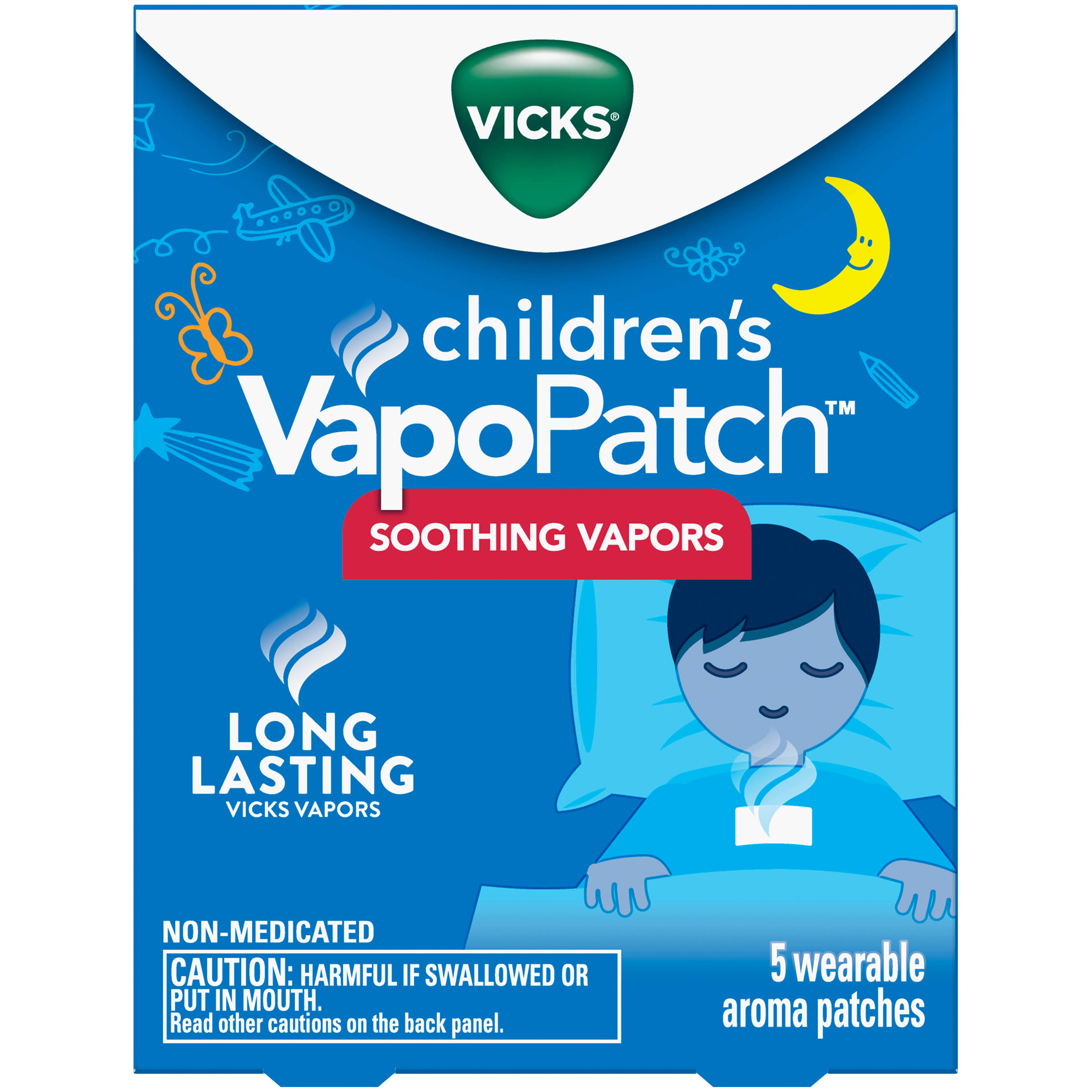 Vicks Children's VapoPatch with Long Lasting Soothing Vicks Vapors - Menthol - 5ct