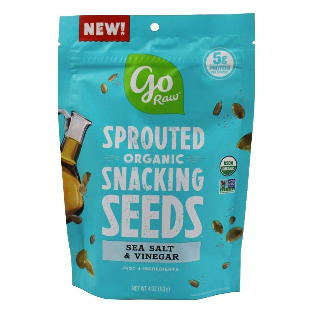 Go Raw Sprouted Organic Snacking Seeds Sea Salt & Vinegar 4 oz.