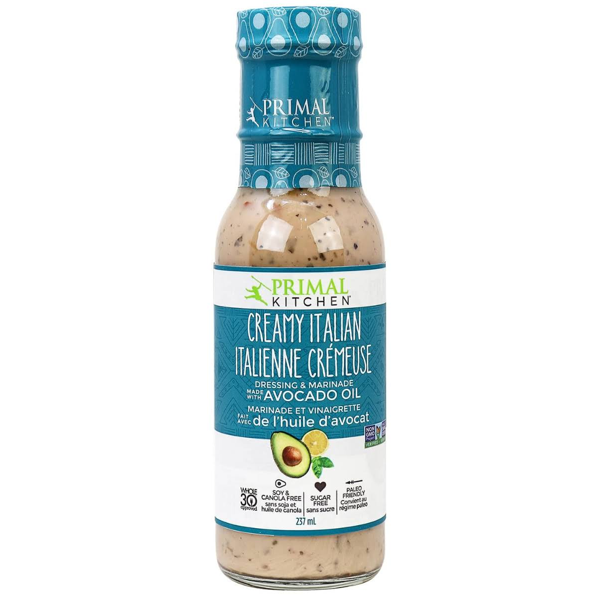 Primal Kitchen - Dreamy Italian Dressing and Marinade - Avocado, 8oz