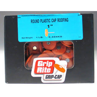 Grip-Rite Plastic Round Cap Roofing Nails - #12, 1-1/2 in