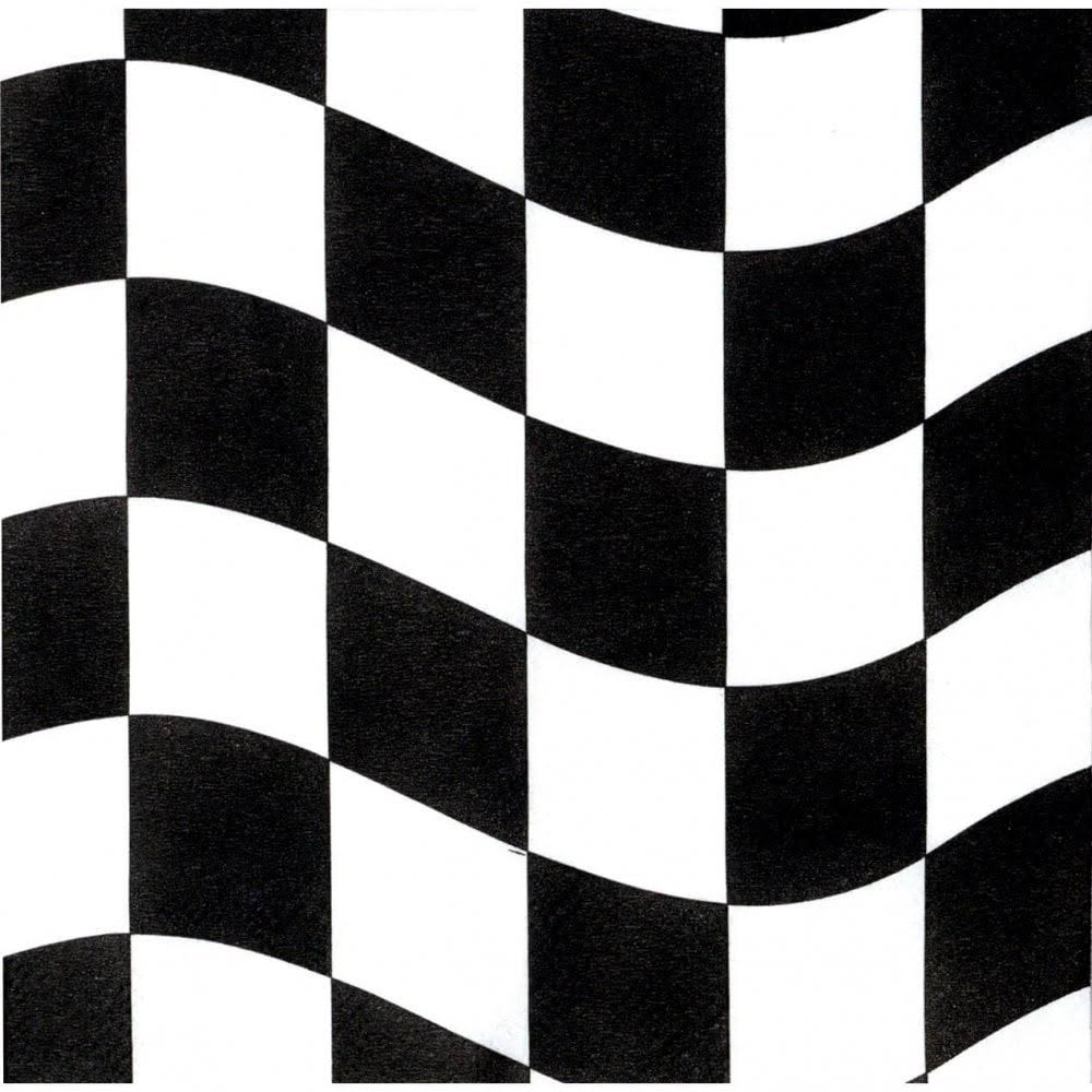 Creative Black and White Check Lunch Napkins - 18ct