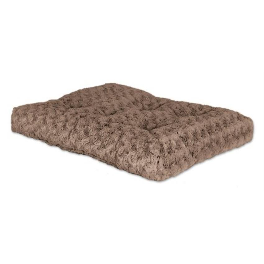 "MidWest Quiet Time Deluxe Ombré Swirl Pet Bed - Mocha, 17"" x 11"""