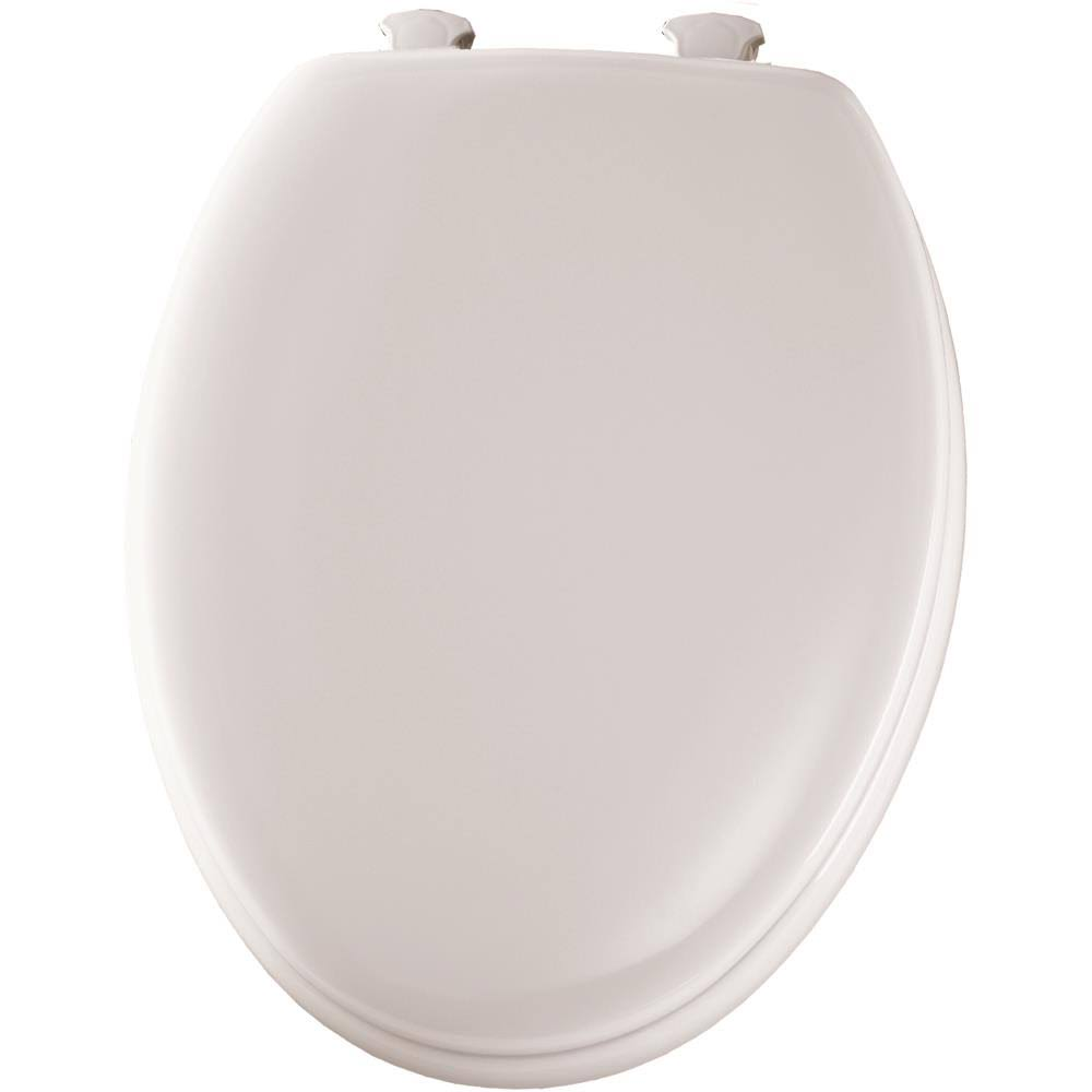 Bemis Elongated Traditional Wood Toilet Seat - White