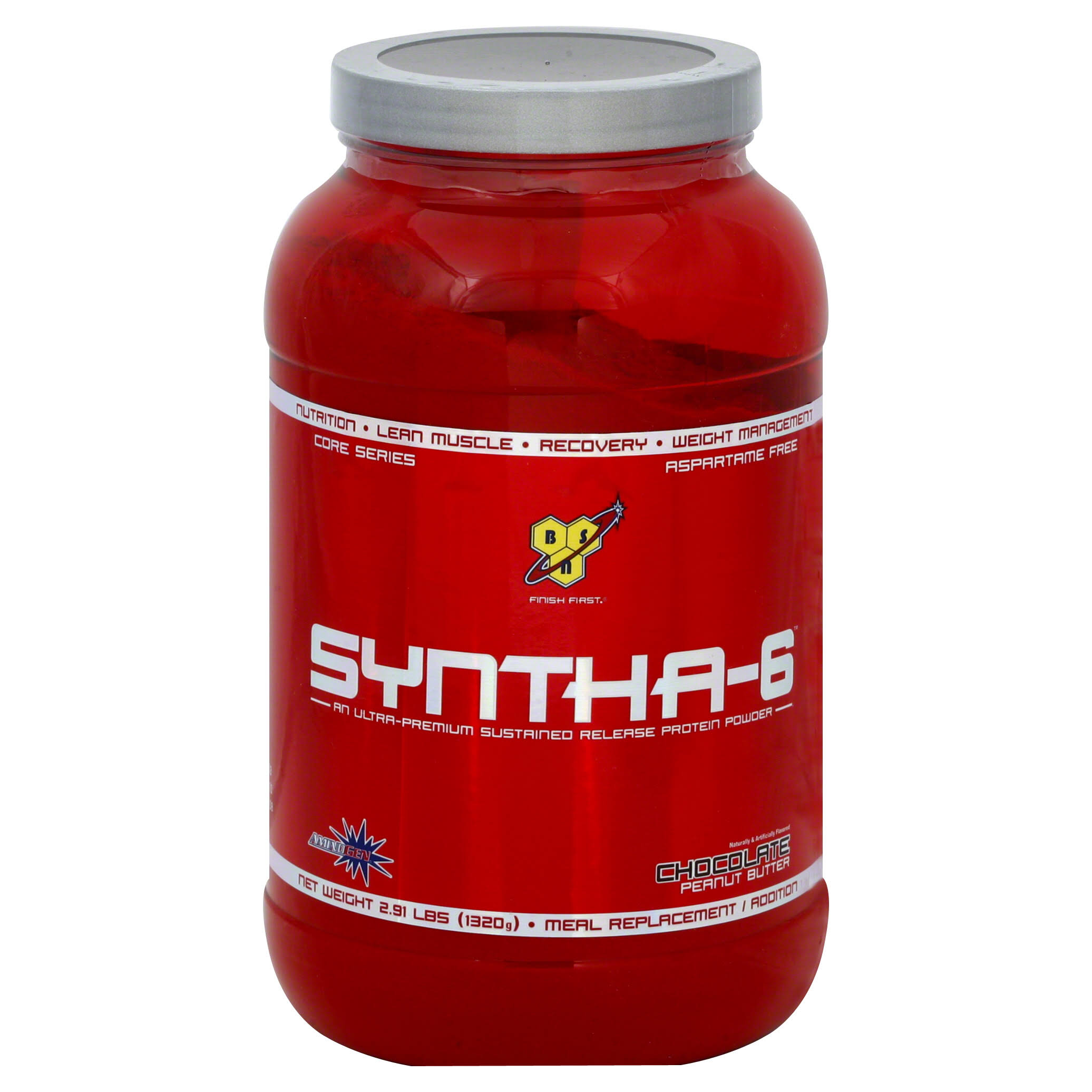 BSN Syntha 6 Sustained Release Whey Protein Powder - Chocolate Peanut Butter, 1320g