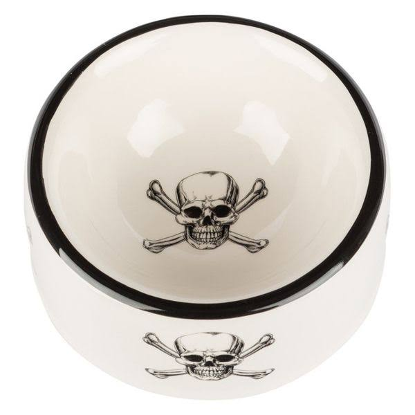 Creature Comforts Skull and Crossbone Round Dish, Medium
