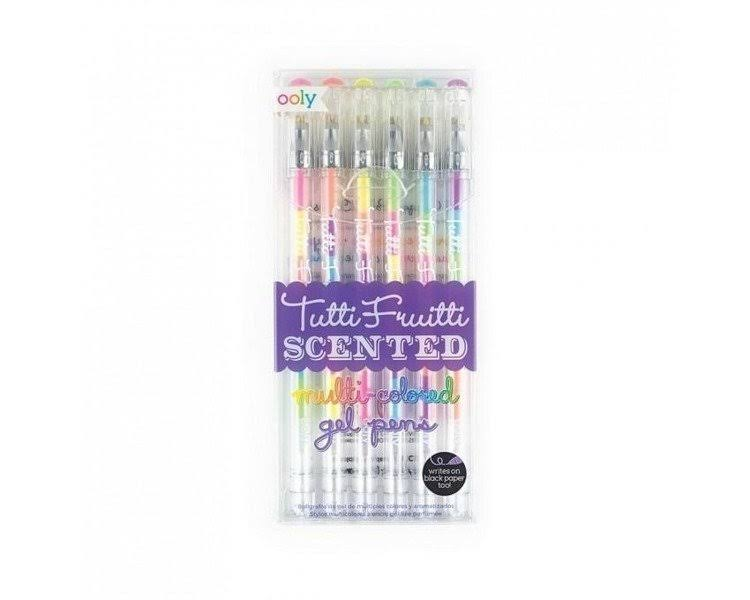 International Arrivals Tutti Frutti Scented Gel Pens - 6 ct