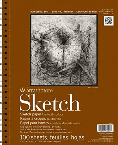 "Strathmore Series 400 Sketch Pads - 14"" x 17"", 100 Sheets"