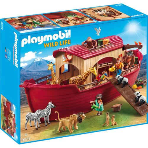 Playmobil Wildlife Noahs Ark with Crane Playset - 99pcs