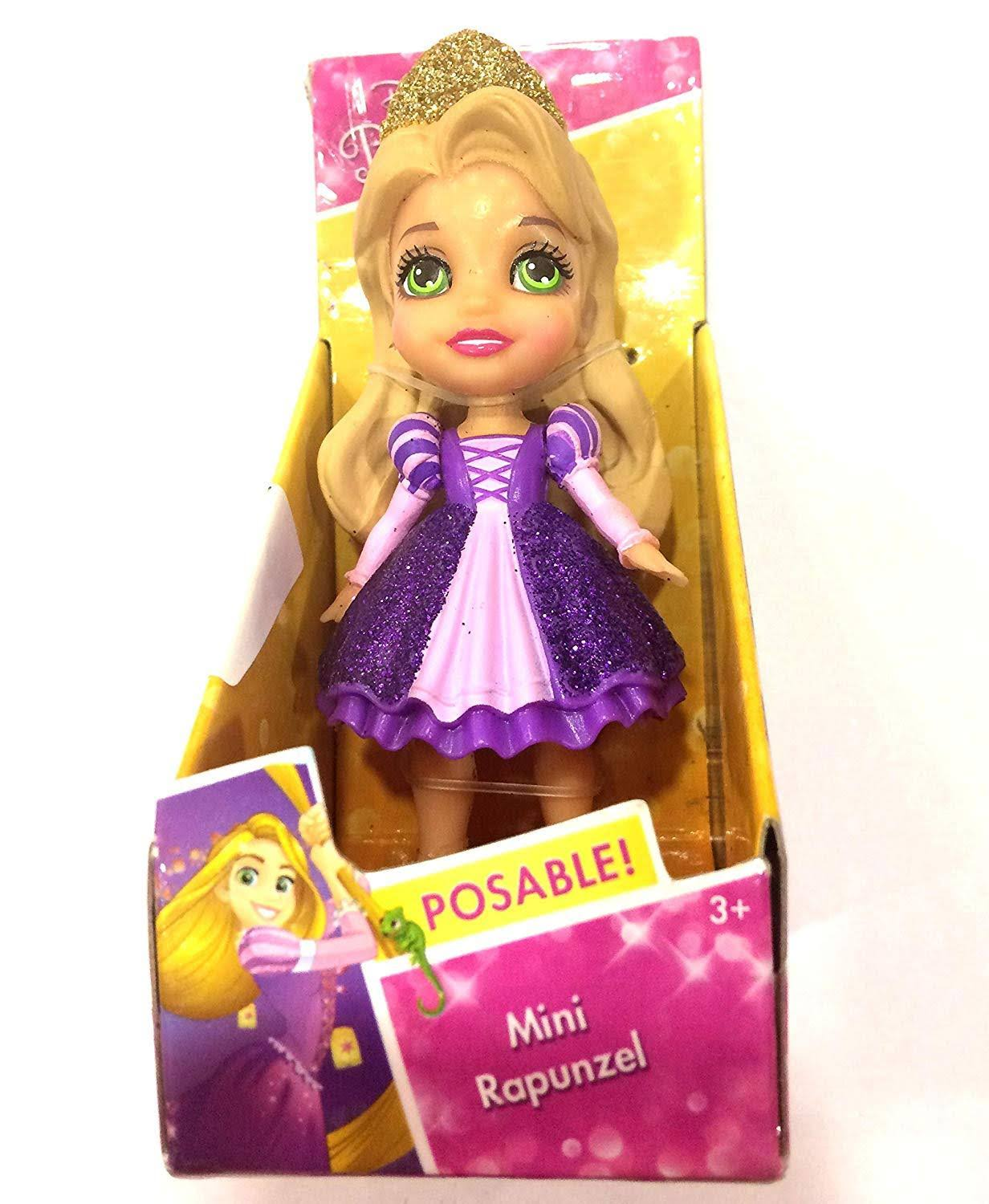 Jakks Pacific Disney-Rapunzel Princess Doll, Multi-Colour, 7.5 cm 84632