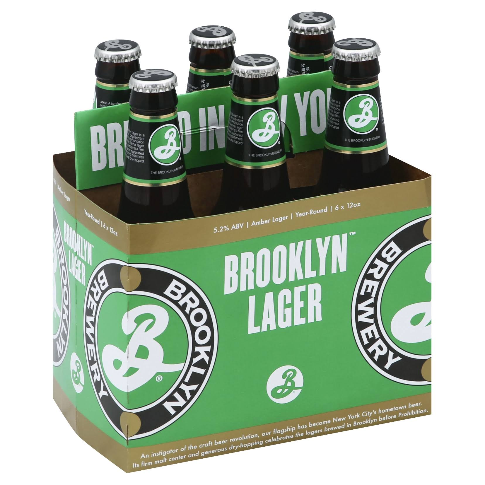 Brooklyn Beer, Brooklyn Lager - 6 12 oz bottles