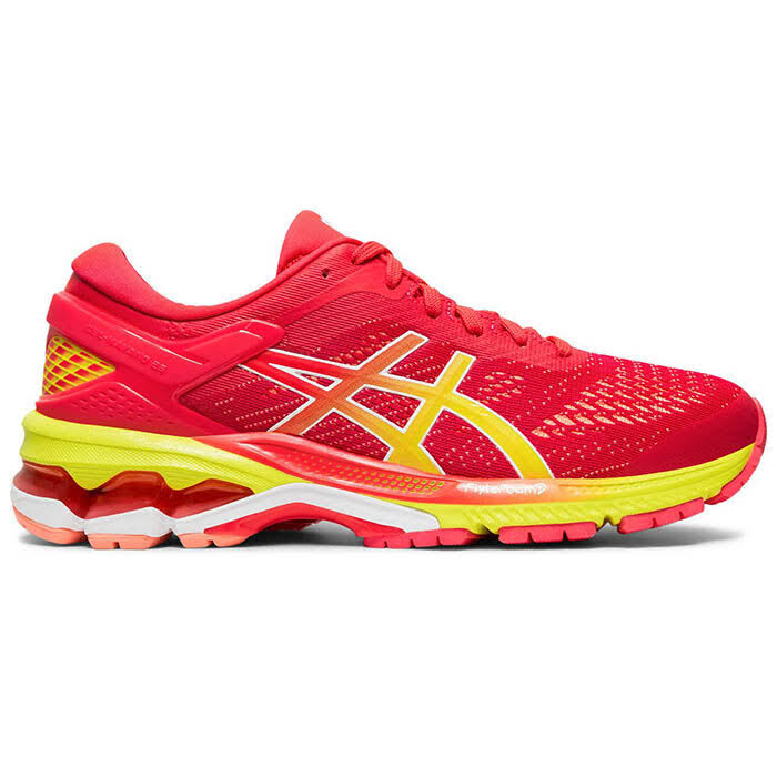 Asics GEL-Kayano 26 Running Shoes Laser Pink/Sour Yuzu Size 10
