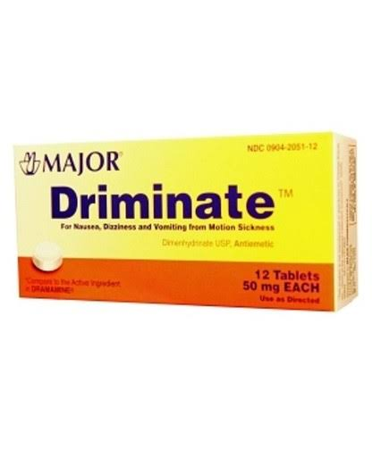 Major S212 Driminate Motion Sickness Tablets - 50mg, 12ct