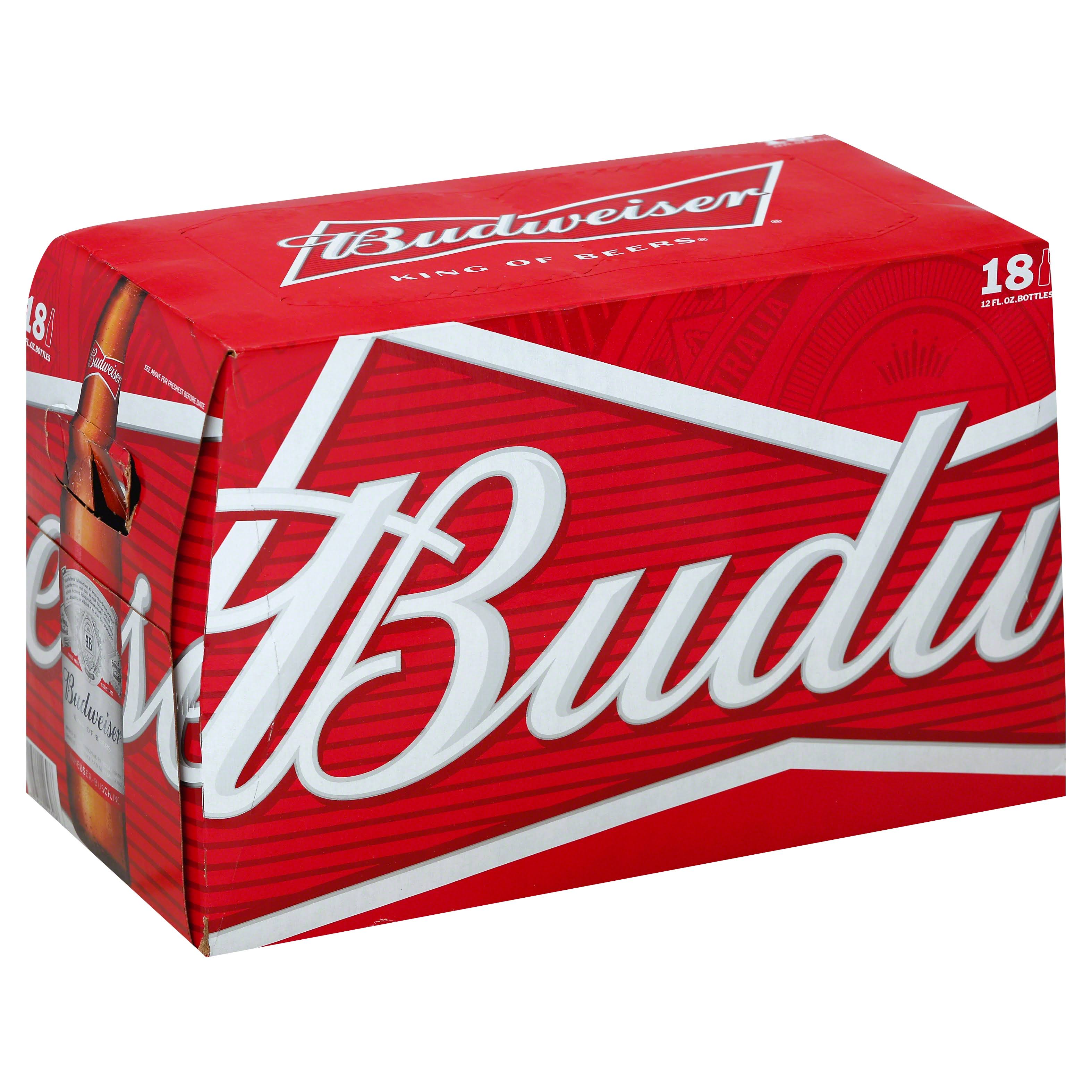 Budweiser Beer - 18 Pack