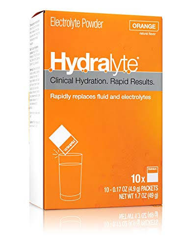 Hydralyte Electrolyte Powder, Orange, Packets - 10 pack, 0.17 oz packets