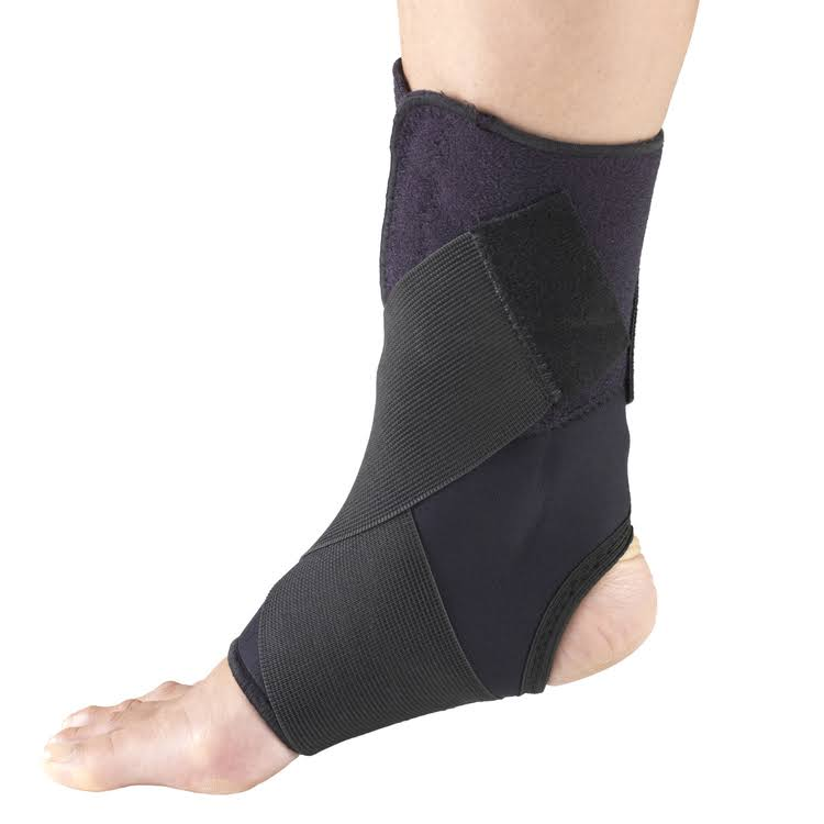 Otc Ankle Support with Wrap Around Strap - Black, Medium
