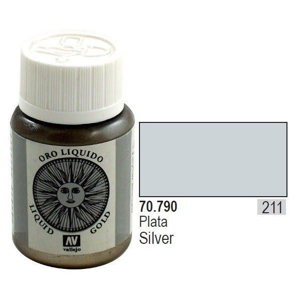 Vallejo Model Color - Liquid Silver, 35ml