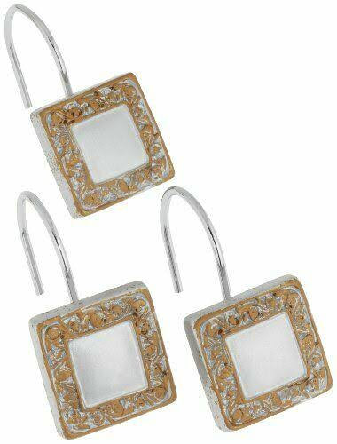 Carnation Home Fashions Lakewood Shower Curtain Hooks