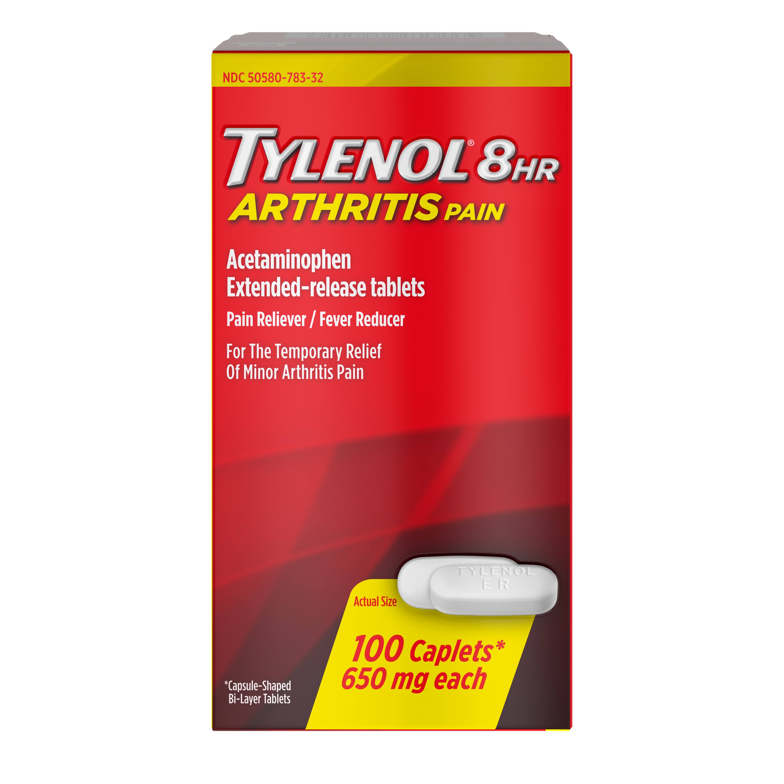 Tylenol 8hr Arthritis Pain Acetaminophen Extended-Release Tablets - 650mg, 100 Caplets