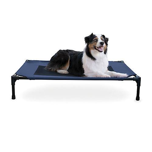Creative Solutions Elevated Navy Dog Bed Medium