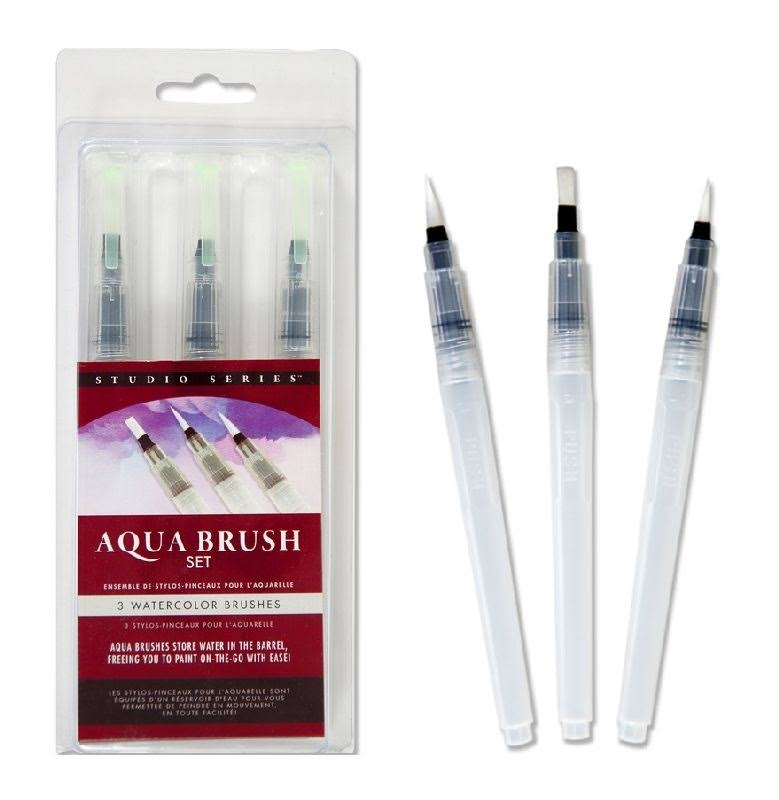Studio Series Aqua Brush Set - 3pc
