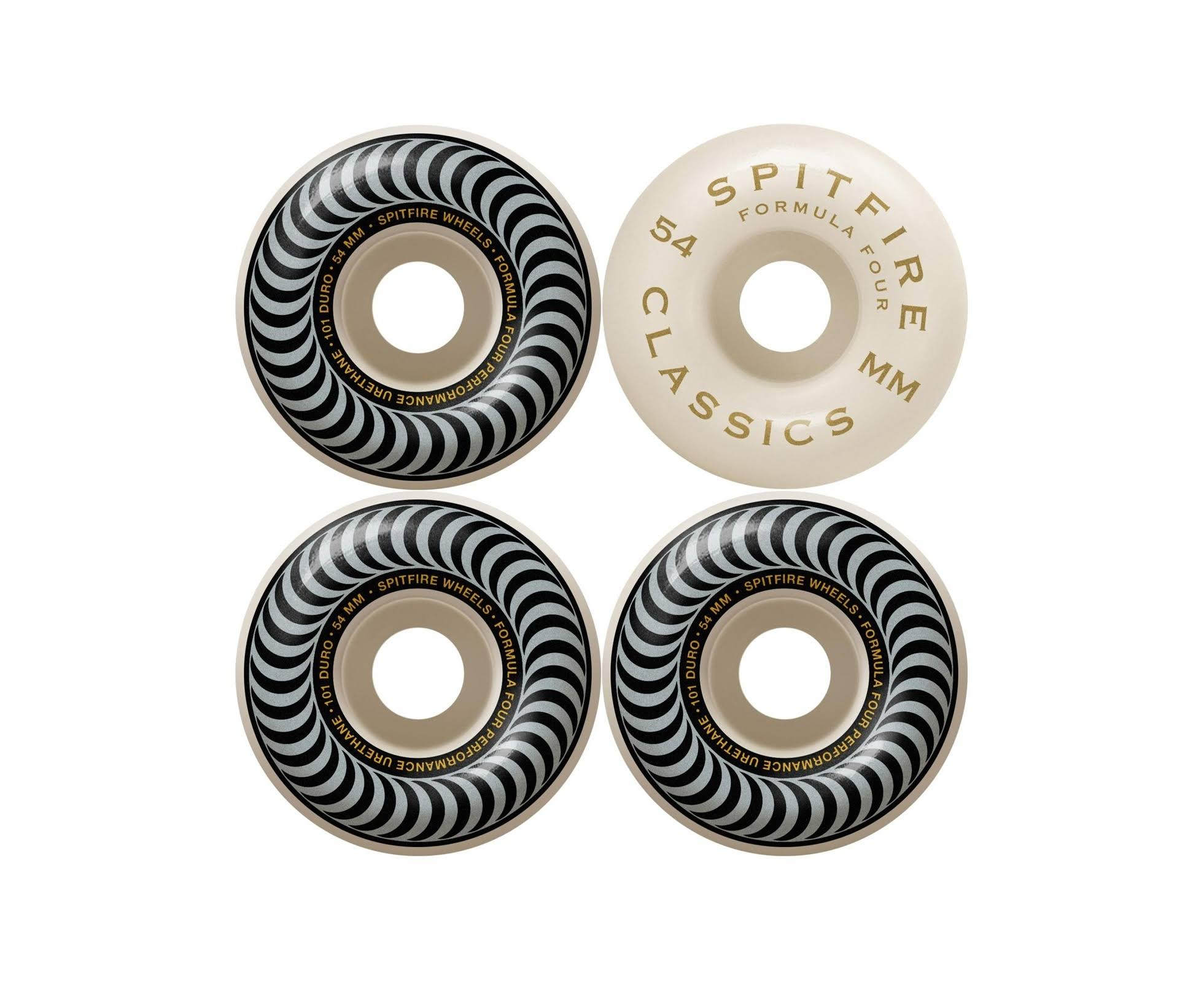 Spitfire Silver Classics 101 Skateboard Wheels - 54mm