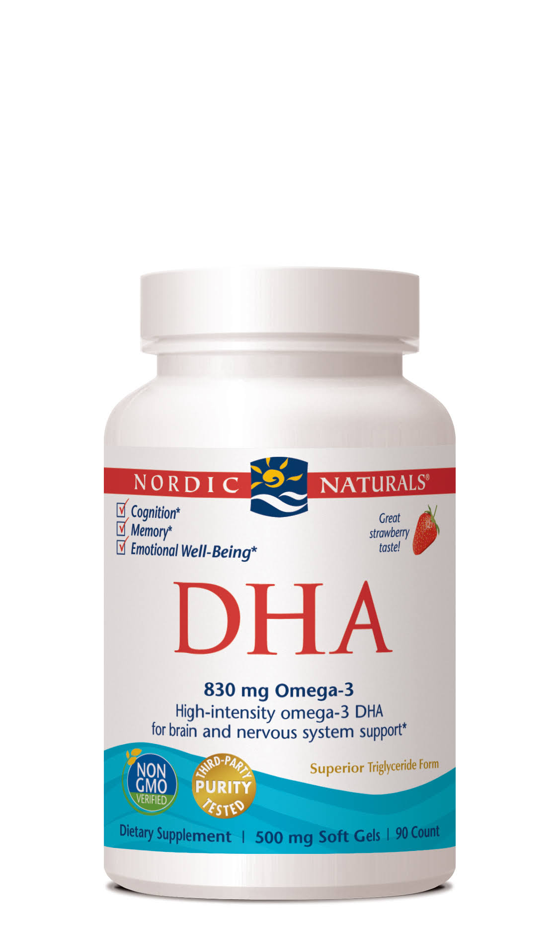 Nordic Naturals DHA - 500mg, 90 Count