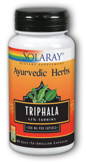 Solaray Triphala Extract - 500mg, 90 Vegetarian Capsules