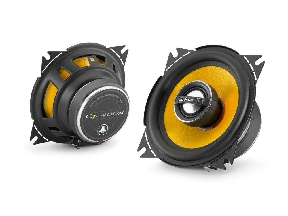 "JL Audio C1-400x C1 Series Car Door Dash Coaxial Speakers - 4"", 10cm"
