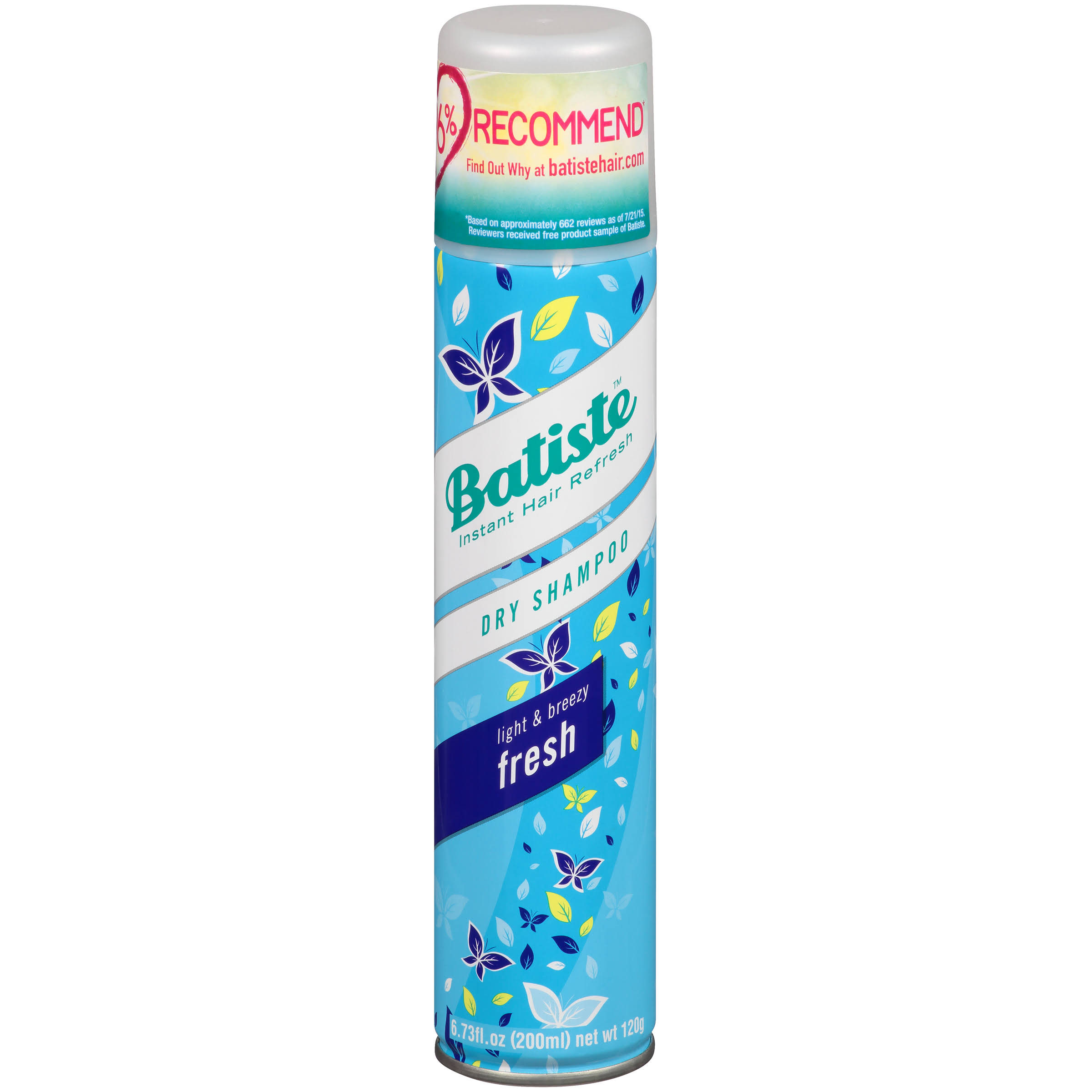 Batiste Dry Shampoo - Light & Breezy Fresh, 200ml