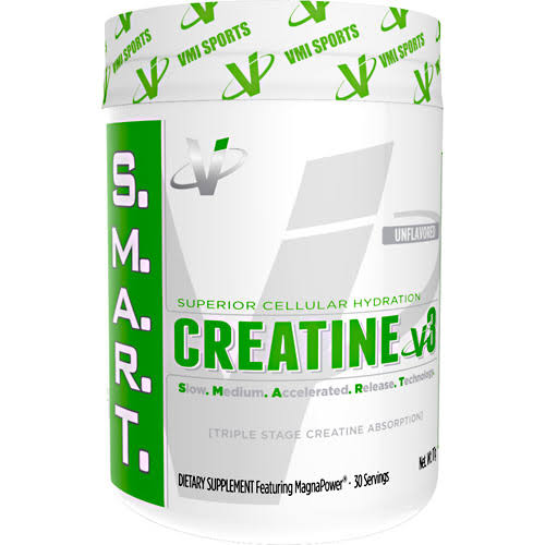 Vmi Sports Smart Creatine V3 Triple Stage Hydration Build Muscle Supplement - 30 Servings, Unflavored